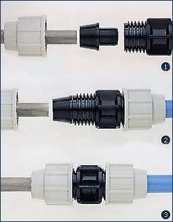 *Assembly Instructions* - Plasson Compression - Universal Pipe Adaptors: Galvanised and PVC