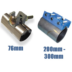 Plasson Repair Clamp (Length 76mm - 300mm)